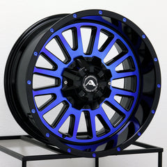 American Off-Road Wheels A105 Black Machined Blue