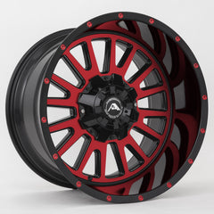 American Off-Road Wheels A105 Black Machined Red