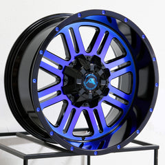American Off-Road Wheels A106 Black Machined Blue