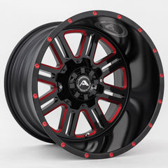 American Off-Road Wheels A106 Black Milled Red