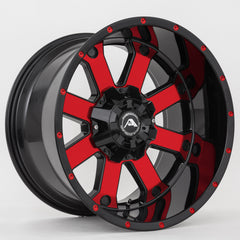 American Off-Road Wheels A108 Black Machined Red