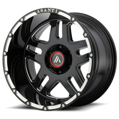 Asanti Off-Road Wheels AB809 Enforcer Gloss Black Milled