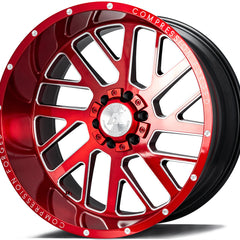 AXE Wheels AX2.2 Candy Red Milled