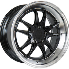 F1R Wheels F102 Black Polish Lip