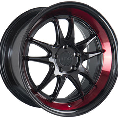 F1R Wheels F102 Black Red Lip