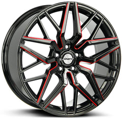 Shift Wheels H33 Spring Black Milled Red