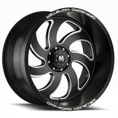 Off-Road Monster Wheels M07 Flat Black Milled