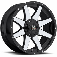 Off-Road Monster Wheels M08 Black Machine