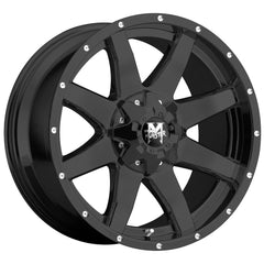 Off-Road Monster Wheels M08 Flat Black Machine