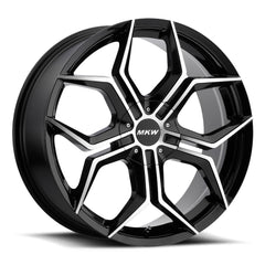MKW Wheels M121 Gloss Black Machine