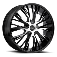 MKW Wheels M122 Gloss Black Machine