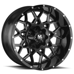 Off-Road Monster Wheels M14 Black Milled