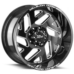 Off-Road Monster Wheels M19 Black Milled