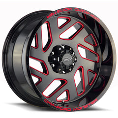 Off-Road Monster Wheels M19 Black Milled Red