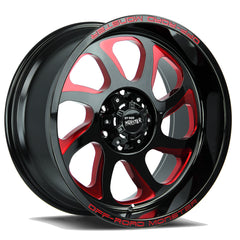 Off-Road Monster Wheels M22 Black Milled Red