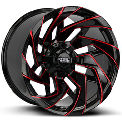 Off-Road Monster Wheels M24 Black Milled Red