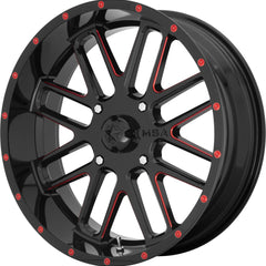 MSA Off-Road Wheels M35 Bandit Black Red