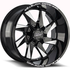 Off-Road Monster Wheels M80 Black Milled