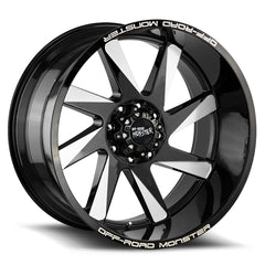 Off-Road Monster Wheels M80 Flat Black Milled
