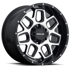 MKW Wheels M92 Satin Black Machine Face