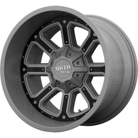 Moto Metal Wheels MO984 Gray Black Insert