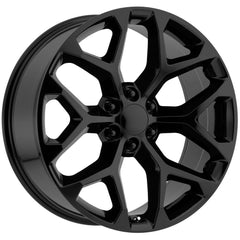 Strada Replica Wheels R176 Snowflake Flat Black