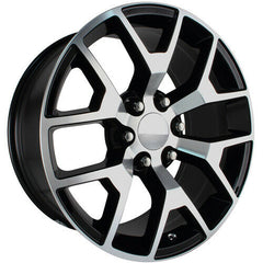Strada Replica Wheels R150 GMC Sierra Black Machine