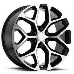 Strada Replica Wheels R176 Snowflake Black Machine