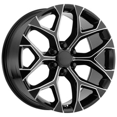 Strada Replica Wheels R176 Snowflake Black Milled