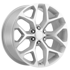Strada Replica Wheels R176 Snowflake Silver Machine