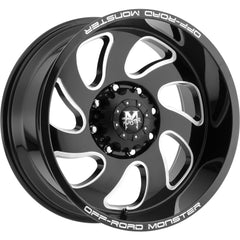 Off-Road Monster Wheels M07 Black Milled