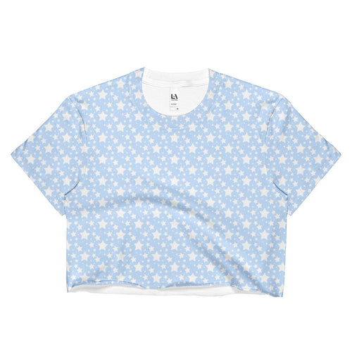 BABY BLUE STARZ CROP T-SHIRT