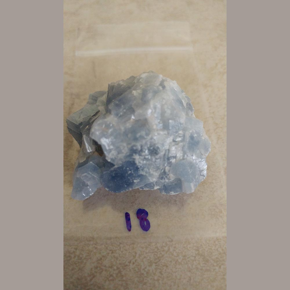 Blue Calcite is a gentle stone for recuperation and relaxation