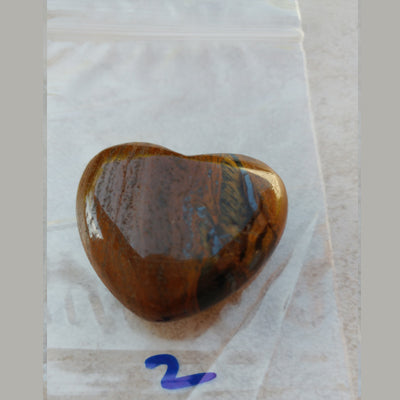 "Tiger Eye Heart (Approx 1 1/4 - 1 1/2"")"