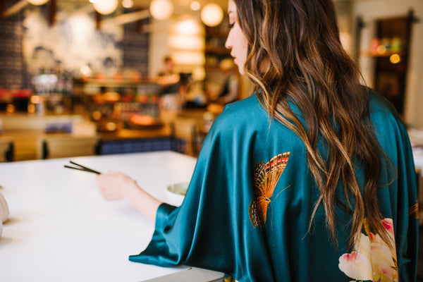The Birds and Butterflies of Our Kimono Robes