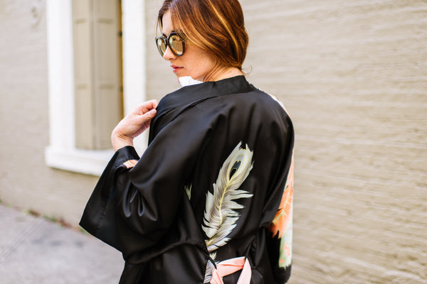 The Mystique of the Long Black Kimono Robe
