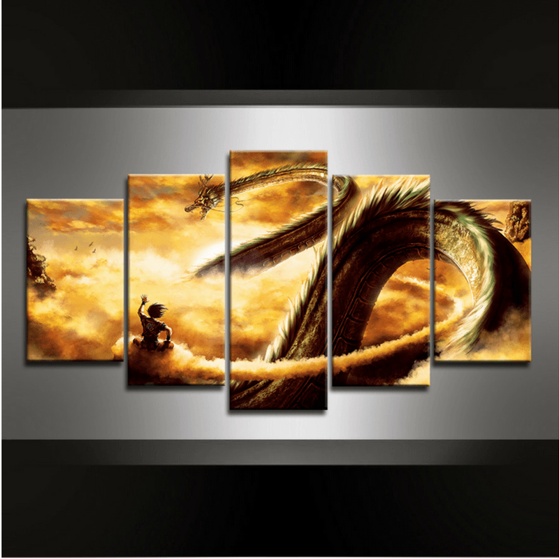 5 Piece Dragonball Dragon Canvas Wall Art