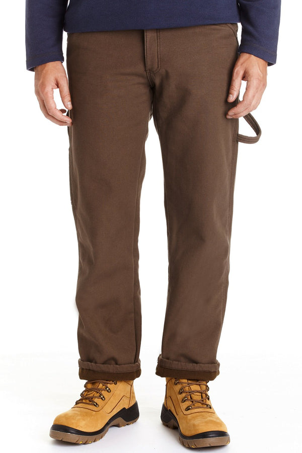 Canvas Fleece Lined Carpenter Pant - almond