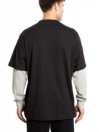 Long Sleeve Pocketed Crew Shirt with Thermal Sleeves