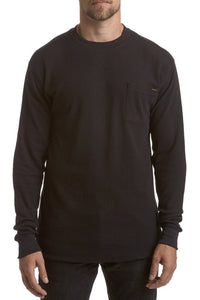 Long-sleeve Thermal Crew Neck - black