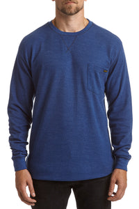 Long-sleeve Thermal Crew Neck - blue heather