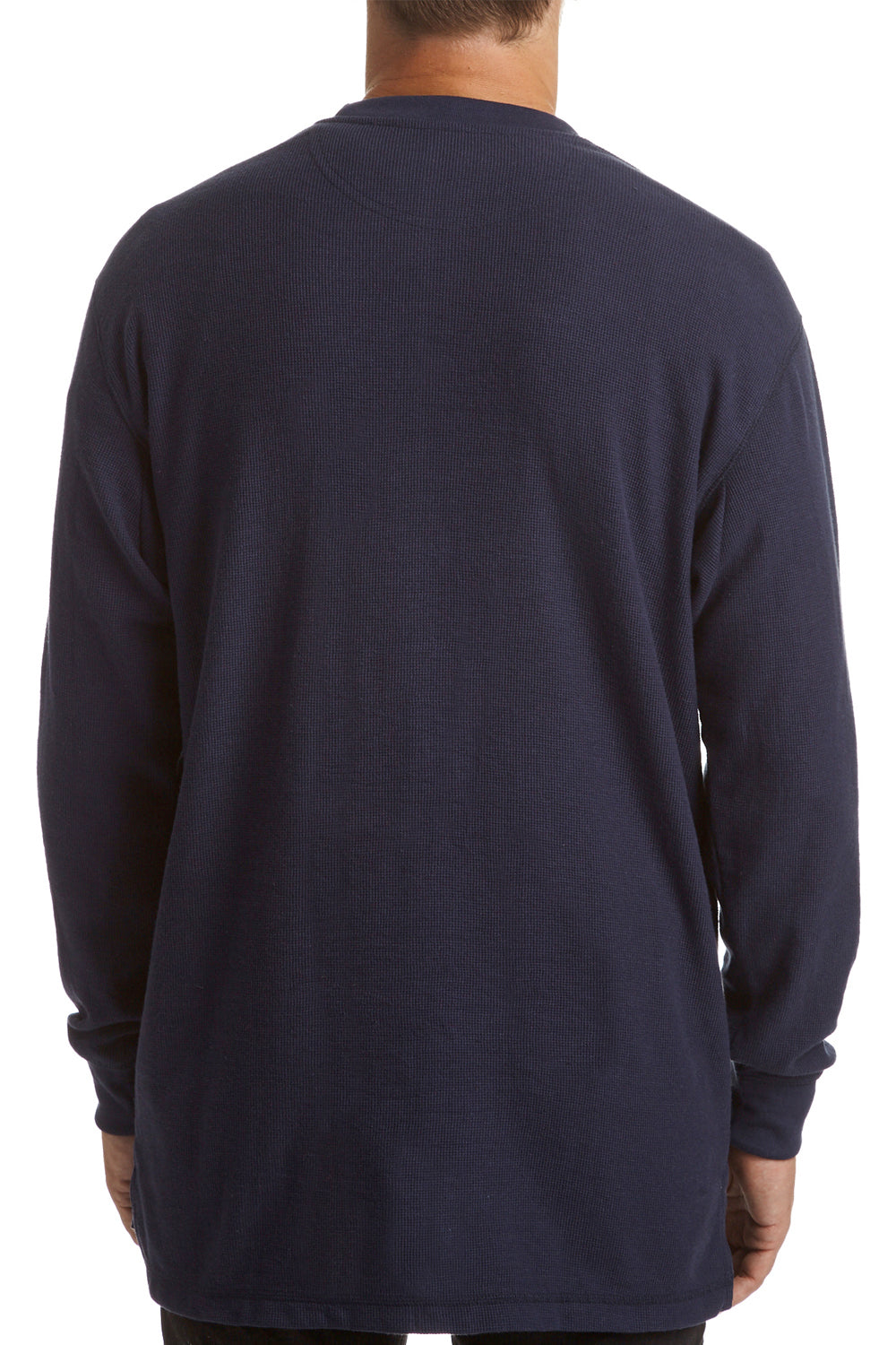 Long-sleeve Thermal Crew Neck - navy