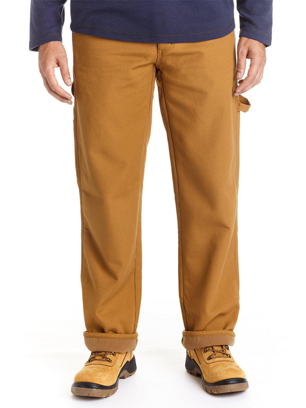 Canvas Fleece Lined Carpenter Pant