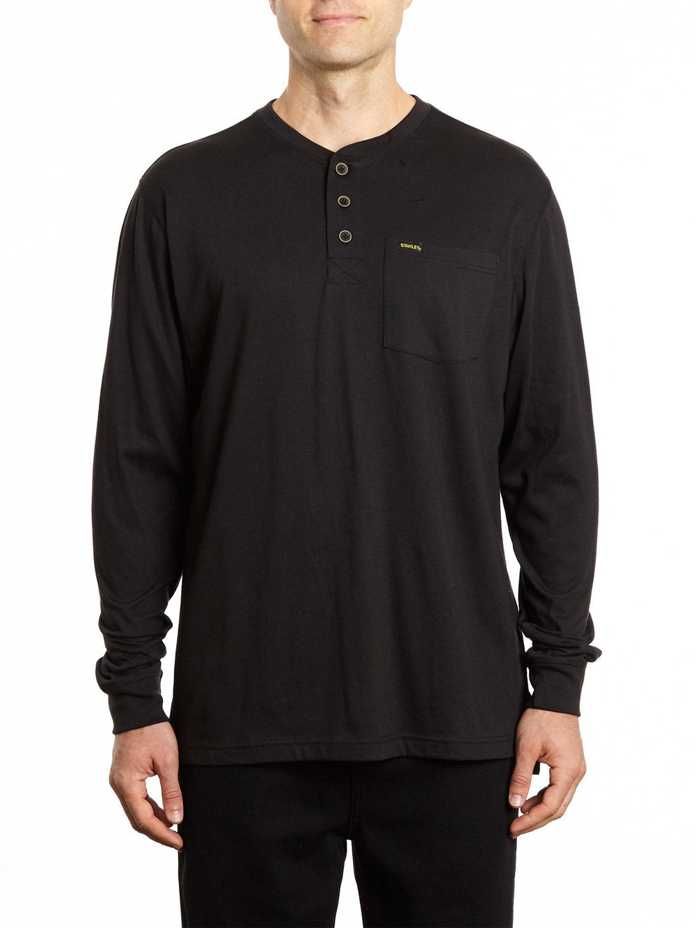 Long Sleeve Pocketed Henley Shirt