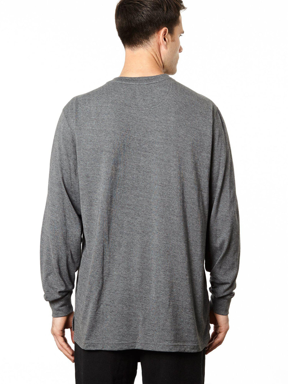 Long Sleeve Pocketed Crew Shirt