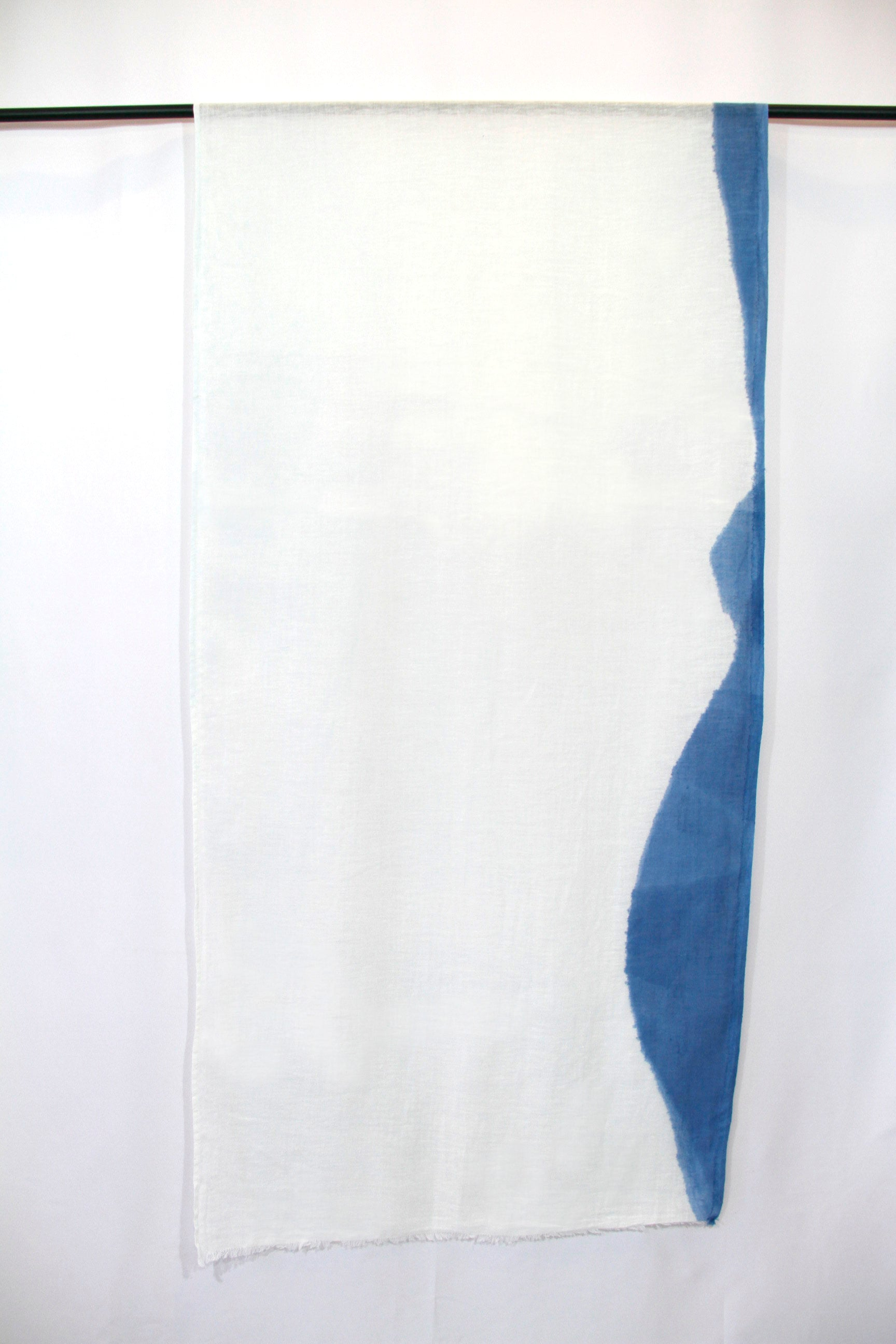 Italian Linen, Hand Dyed with Natural Indigo, Scarf 6