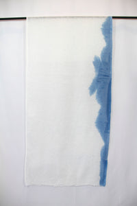 Italian Linen, Hand Dyed with Natural Indigo, Scarf 11