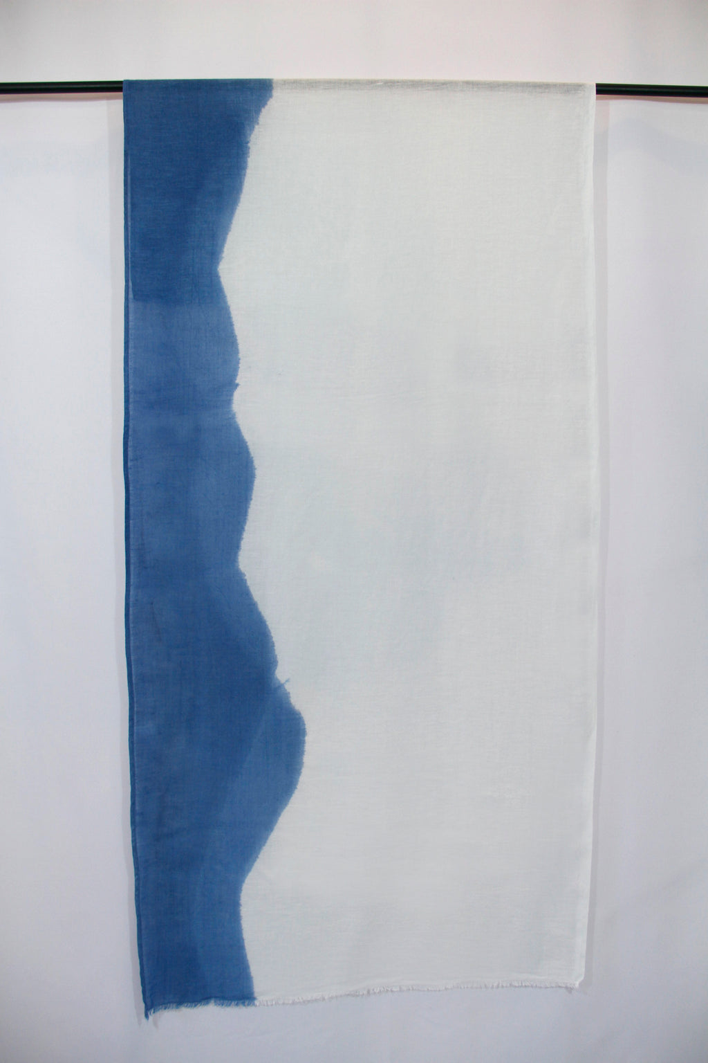 Italian Linen, Hand Dyed with Natural Indigo, Scarf 14