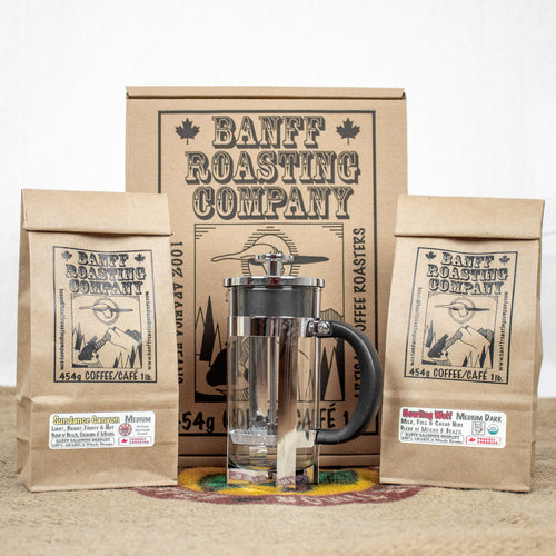 BOX: French Press with Lighter Side (Blends) - Banff Roasting Company Ltd.