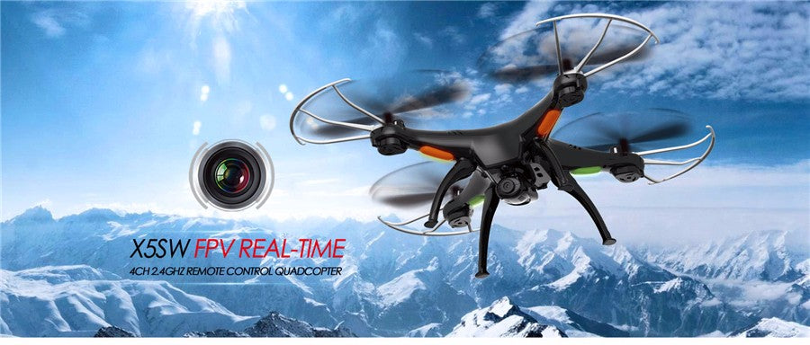 RC Drone Syma X5SW FPV RC Quadcopter Drone with Camera 2.4G 6-Axis RC Helicopter Drones With Camera HD VS JJRC H31 JJRC H8 Mini - Spinner-Gadget